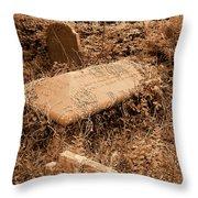 Overgrown Graves Throw Pillow