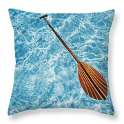 Overhead View Of Paddle Throw Pillow