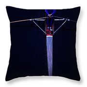 Overhead View Of Woman Rower On Montlake Cut  Throw Pillow