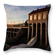 Overholser Dam Throw Pillow