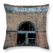 Overholt Distillery Throw Pillow