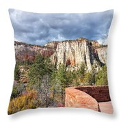 Overlook In Zion National Park Upper Plateau Throw Pillow