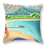 Overlooking Hanalei Bay Throw Pillow