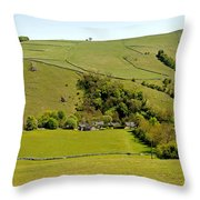 Overlooking Milldale Throw Pillow