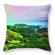 Overlooking San Francisco Bay Throw Pillow