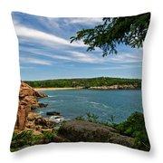 Overlooking Sand Beach Throw Pillow