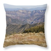 Overlooking Santa Paula Canyon Throw Pillow