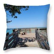 Overlooking Sarasota Bay Throw Pillow
