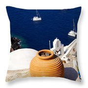 Overlooking Sea Throw Pillow