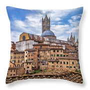 Overlooking Siena And The Duomo Throw Pillow