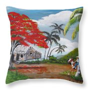 Overlooking The Cliff Throw Pillow