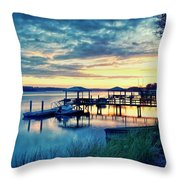 Overlooking The May Throw Pillow