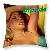 Overnight Blonde Throw Pillow