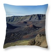 Overview Of Haleakala Cra Throw Pillow