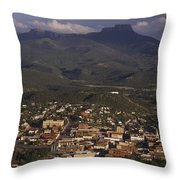 Overview Of Town Of Trinidad Throw Pillow