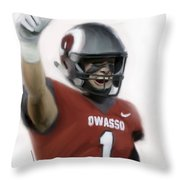 Owasso Wins State Throw Pillow