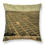 Owatonna, Minnesota 1870 Throw Pillow