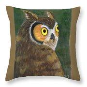 Owl 2009 Throw Pillow