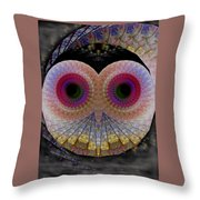 Owl Abstract Throw Pillow
