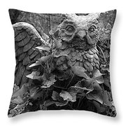 Owl And Ivy Throw Pillow