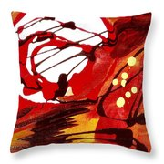 Owl And The Moon Throw Pillow