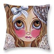 Owl Angel Throw Pillow
