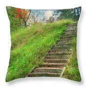 Owl Creek Mound  Throw Pillow