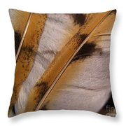 Owl Feathers Photograph Throw Pillow