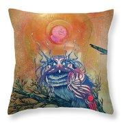 God King Owl Throw Pillow