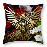 Owl In Flightcollectioni Throw Pillow