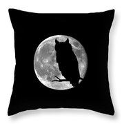 Owl Moon .png Throw Pillow