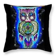 Owl No Uv Throw Pillow