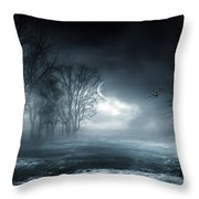 Owl Of Minerva Throw Pillow by Lourry Legarde