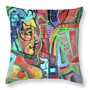 Owl Over Man Tribute Throw Pillow