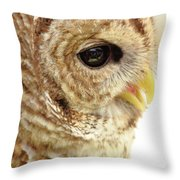 Owl Profile Throw Pillow