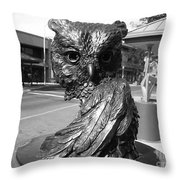 Owl Sculpture Grand Junction Co Throw Pillow