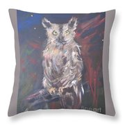 Owl Watchers Throw Pillow