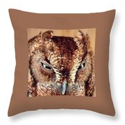 Owl Who? -brown Owl Throw Pillow