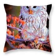 Owlrightythen Throw Pillow