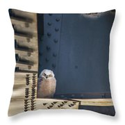 Owls And Trestles Throw Pillow