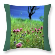 Owl's Clover And The Tree Throw Pillow