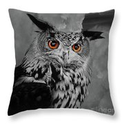 Owls Eye Throw Pillow