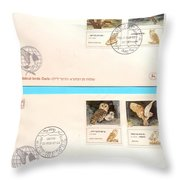 owls First day cover Throw Pillow