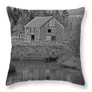 Owls Head Barn Throw Pillow