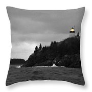 Owl's Head In Winter Throw Pillow