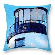Owls Head Light House Throw Pillow