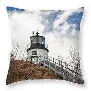 Owl's Head Lighthouse 4761 Throw Pillow