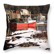 Owls Head Snow Throw Pillow