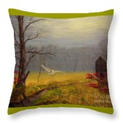 Owl's Retreat Tobacco Trail Throw Pillow
