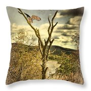 Owls Roost Throw Pillow